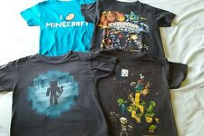 BOYS LOT OF MINECRAFT SHIRTS AND SKYLANDER size 8
