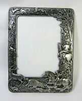 "Vintage Arthur Court 1987 ""Hunting"" Aluminum Frame 7½""x9¾"" VG Condition"