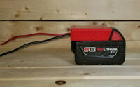 Milwaukee M18 18V Battery Power Adapter with 12 AWG wires | Power Wheels adapter