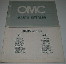 Ersatzteilkatalog Parts Catalog OMC 30 / 35 Models Boot Engine Bootsmotor 1984!