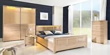 Schlafzimmer Holz Garnitur Set Komplett Bett Schrank Kommode Nachttisch Cremona2
