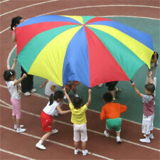 Children Kids Rainbow Umbrella Parachute Outdoor Sport Exercise Group Game Toy