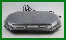 Amber LED Mini Light Bar Beacon Flashing Warning Magnet Mount 10 Flash Patterns