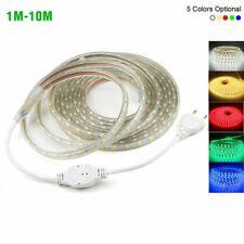 Led strip light 220V 230 volt lights 1m 2m 3m 5m 10m rgb white 5050 neon 6500k