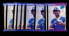 1989 DONRUSS #33 KEN GRIFFEY JR. RC HOF LOT OF 10 MINT *INV3092