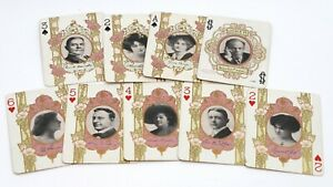 Antique 1908 65X The Stage Playing Cards-Complete Set-Stage Actors & Actresses-