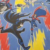 Vintage Batman Robin Mr Freeze Twin Flat Sheet 1996 DC Comics Bedding Crafts USA