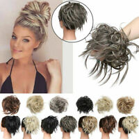 Natural Color Curly Messy Bun Hair Piece Scrunchie Hair Extensions
