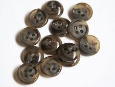 10pc 14mm Brown and Olive Buttons Ideal for Cardigans Trousers or Skirts 0003