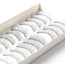 Handmade Makeup Cross 10 Pairs Extension Eye Lashes False Eyelashes Soft Natural