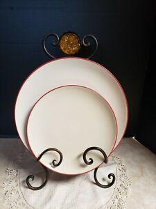 Noritake Colorwave  Raspberry Lot 1 Dinner & 1 Salad Plate EUC, 3 lots available