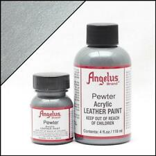 Angelus Acrylic Leather Paint Pewter 4oz Colour f Shoes/Sneakers Water Resistant