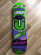 Über Skateboards Deck 7,5, Emillion, Inklusive Griptape, Marvel, Hulk