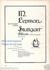 Piume da letto lepman Ostheim XL la pubblicità di 1926 Stoccarda MOLLA oca MOLLA + letto