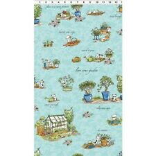 Clothworks Cats in the Garden Cotton Fabric Fat Quarter