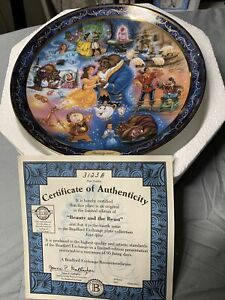 Disney's Beauty And The Beast 'Ever After' Bradford Exchange CollectorPlatew/COA