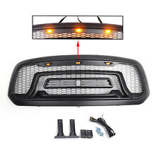 Front Grill Mesh Grille Rebel Style w/LED light Fit For 2013-2018 Ram 1500