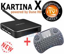 Kartina X - 4k UHD WLAN/WIFI Receiver Kartina.TV (Dune HD) + Mini-Tastatur RU/EN