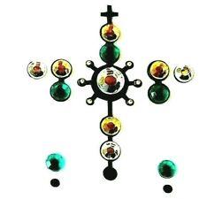 *Bling Body Art Green, Silver & Gold Gems Temporary TattooD12