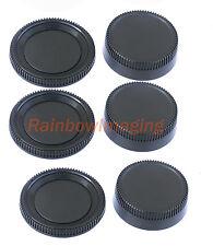 3 pcs x Rear Lens Cover + Camera Body Cap for Nikon DSLR replaces LF-1 BF-1B