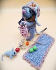 Mouse.handmade gift. animals toy. mouse teddy toy. collectible toy