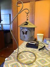 metal butterfly hanging lantern with stand candle holder garden patio