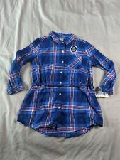 OshKosh BGosh Girls Tunic Length Plaid Button Down Shirt...