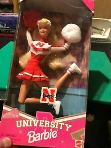 NEBRASKA CORNHUSKERS 1996 UNIVERSITY BARBIE MATTEL CHEERLEADER STILL IN BOX