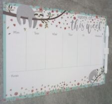 """WEEKLY """"PLANNER"""".- FULLY MAGNETIC-WRITE & WIPE SURFACE with PEN & CliP. ITEM 62B"""