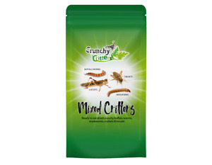 Edible Insects Mixed Critters Worms, Crickets & Locusts 20g Crunchy Critters