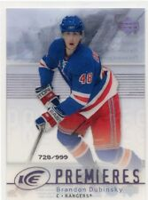 07-08 UPPER DECK ICE ROOKIE RC #168 BRANDON DUBINSKY 728/999 RANGERS *46741