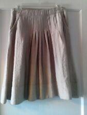 J Jill Womens  Beige Pleated Front Pockets Back Zippered Skirt Size 6P
