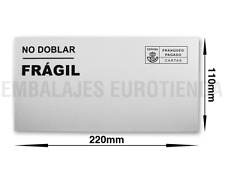 "500 SOBRES OPEN BLANCOS 110X220 mm SAM ""NO DOBLAR FRAGIL""FRANQUEO PAGADO CARTAS"