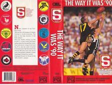 AFL THE WAY IT WAS '90 VIDEO VHS PAL A RARE FIND MINT SEALED