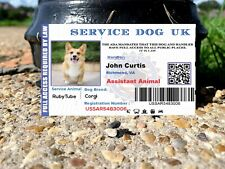 ESA ASSISTANCE DOG UK  BADGE FOR UNITED KINGDOM GREAT BRITAIN SERVICE ID EU