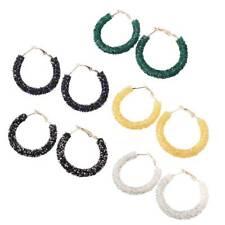 Vogue Hoop Earrings Women Large Circle Round Crystal Ear Dangle Hoops Jewelry