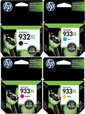 Genuine HP 932XL High Yield & HP 933XL Cyan, Yellow & Magenta NEW - OEM!