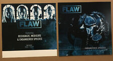 Flaw Rare 2004 Set of 2 Double Sided Promo Poster Flat of Endangered Cd 12x12