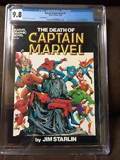 Marvel Graphic Novel #1 CGC 9.8 (2nd Printing) WHITE PGS Death of Captain Marvel