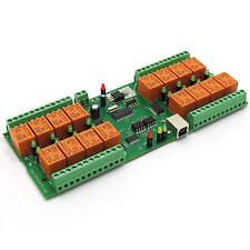 USB 16 Kanal Relaiskarte, 16 Relais Seriell, Virtual Com/Serial Port (VCP) - 12V