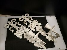 """Antique Shabby chic Style 12"""" white Sconce Candle Holder Wall Decor HEAVY METAL"""