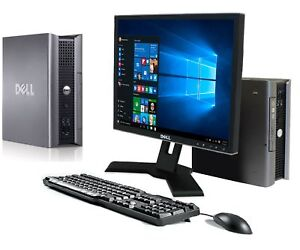 "Dell Full Bundle PC Windows 10 19"" TFT Monitor WiFi Office SSD Computer Warranty"