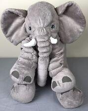 """Ikea Jattestor 23"""" Large Grey Elephant Soft Toy Stuffed Animal Plush Kids Baby"""
