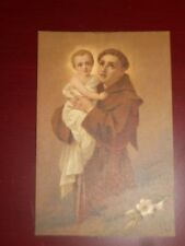 religious holy cards printed in Switzerland vintage BEAUTIFUL St Anthony & Jesus