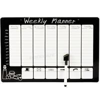 Magnetic Wipeable Weekly Planner Organiser Memo Notice Board Pen Fridge Magnet