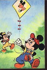 DISNEY Mickey cerf-volant Kite cerfs-volants carte postale cp postcard vlieger