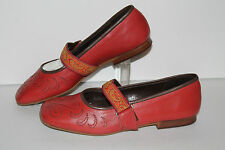 Pazzo Casual Shoes, Red, Leather, Womens US 7.5
