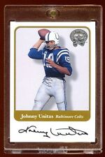 JOHNNY UNITAS 2001 GREATS OF THE GAME AUTO SP AUTOGRAPH NEVER SEEN   RARE  HOF