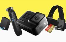 Go Pro Hero8 Black Bundle inc Shorty, Head Strap, Extra Battery, 32Gb SanDisk SD