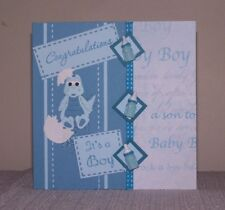 """handcrafted and so cute!  """"It's a baby boy"""" Dino card, With verse."""